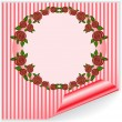 Royalty-Free Stock Vector Image: Pink frame with curved corner