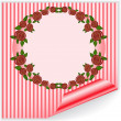 Pink frame with curved corner - Stock Vector