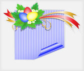 Easter blue sticker — Stock Vector