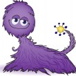 Purple furry creature — Stock Vector