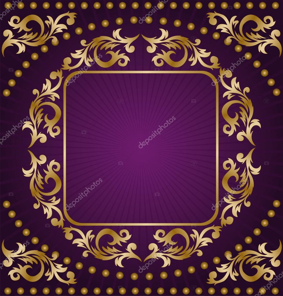 Royal Purple and Gold Backgrounds  Creative Market