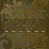 Brown banner — Stock Vector