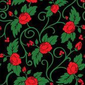 无缝背景的红玫瑰 — 图库矢量图片