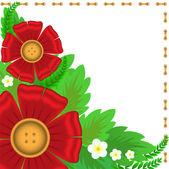 красные цветы — Cтоковый вектор