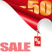 Fifty-percent sale — Stock Vector