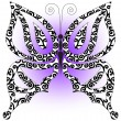 Butterfly on a lilac background — Stock Vector