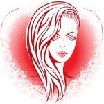 Girl in the heart — Stock Vector #31020445