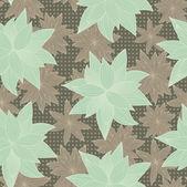 зеленые и бурые цветки — Cтоковый вектор