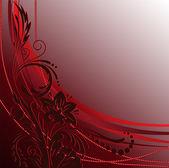 Dark-red ornament — Stock Vector
