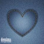 Denim heart — Stock Vector