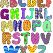 colorful alphabet — Stock Vector