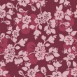 Burgundy floral background — Stock Vector