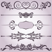 Collection of decorative elements 6 — Stock Vector