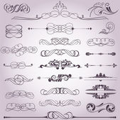 Collection of decorative elements 8 — Stock Vector