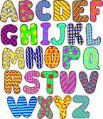 Färgglada alfabetet — Stockvektor