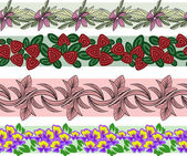 Sada květinový ornament — Stock vektor