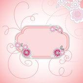 Karta kwiat różowy — Wektor stockowy