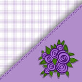 Purple checkered background — Stock Vector