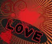 Aşk 2 alevi — Stok Vektör