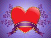 Herz mit blumen — Stockvektor