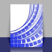 Blaue flyer — Stockvektor