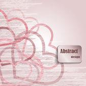 Abstraktní design se srdíčky — Stock vektor