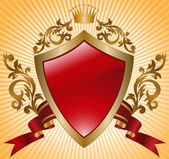Knightly shield — Stock Vector