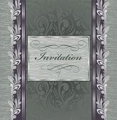 Beautiful vintage invitation — Stock Vector