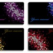 Set of black business cards — Stock vektor