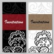 Set of invitations — Stock Vector