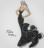 Fashion design — Vector de stock