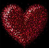 Corazón de mosaico — Vector de stock