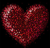 Mosaic heart — Stockvector