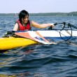 Cute girl with windsurfing — Stock Photo #12045862