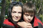 Portrait of a happy mother with her son — Stock Photo