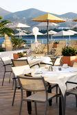 Restaurant on an open verandah — Stock Photo