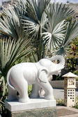 Marble sculpture of elephant — Stock Photo