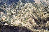 Steep mountain road on La Gomera — Stock Photo