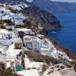 Santorini white houses in Oia — Stock Photo