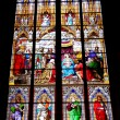 Stained-glass windows of Cologne cathedral - Stock Photo