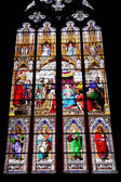 Stained-glass windows of Cologne cathedral — Stock Photo