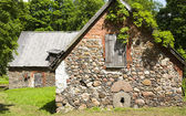 Old stone barns — Stockfoto
