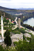 Looking down on mosque at Pocitelj, Bosnia-Gercegovina — Stock Photo
