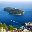 Old town Dubrovnik and Lokrum island — Stock Photo