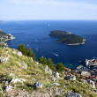 Old town Dubrovnik and Lokrum island — Stock Photo #27357411