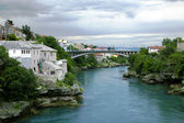 Mostar city and bridge — Stock Photo