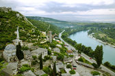 Medieval small town Pocitelj - view from above — Stock Photo