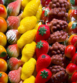 Marzipan sweetnesses in the pastry shops — Foto de Stock