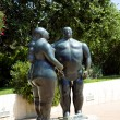 Sculpture of Adam and Eve in Monte - Carlo — Stock Photo