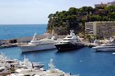 Luxury yachts in Monte Carlo port — Stock Photo